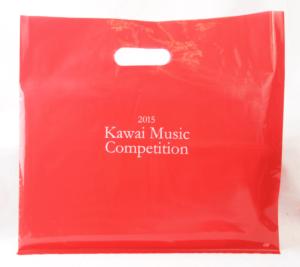 上品な赤色の音楽コンクールポリ袋