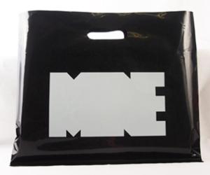 ロゴデザインが目を引くオリジナルビニール袋!
