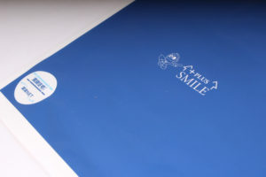 ブルーで印刷されたポリ袋